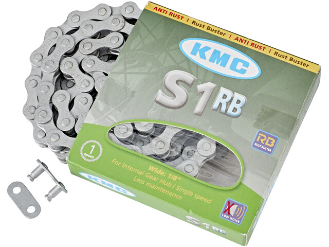 KMC S1-RB fietsketting singlespeed zilver